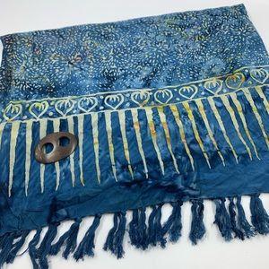 Tangerine scarf wrap large boho bohemian fringe